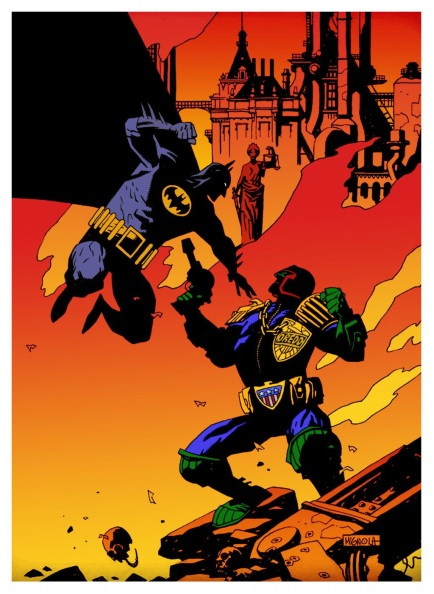 batman vs dredd
